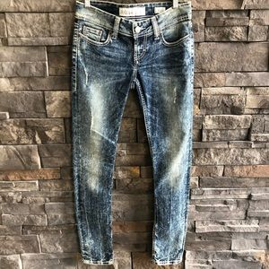 BKE Stella Jeans, Acid Wash, Distressed, 26R